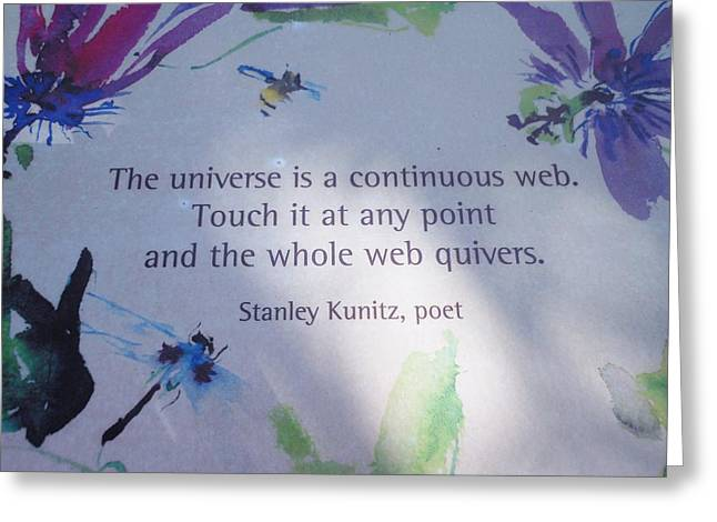 The Universe Greeting Card by Kay Gilley