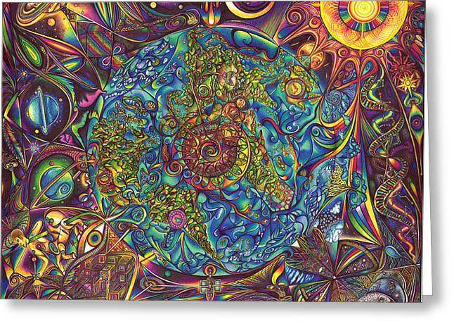 the UNIVERSE mandala Greeting Card by DiNo