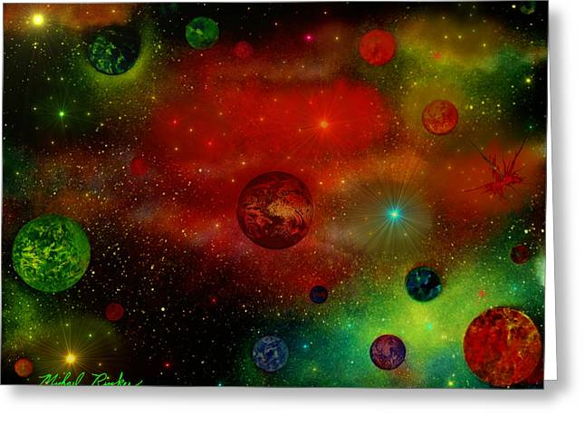 Intergalactic Space Greeting Cards - The Universe Greeting Card by Michael Rucker