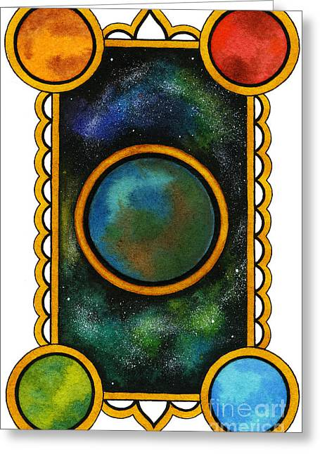 Nora Blansett Greeting Cards - The Universe Greeting Card by Nora Blansett