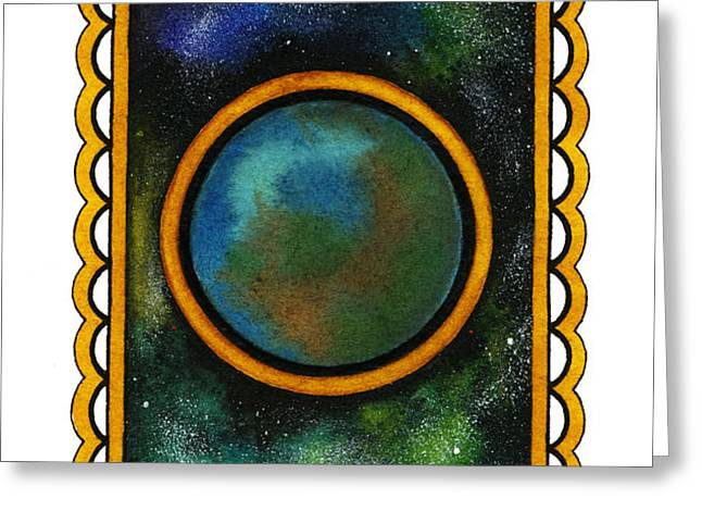 The Universe Greeting Card by Nora Blansett