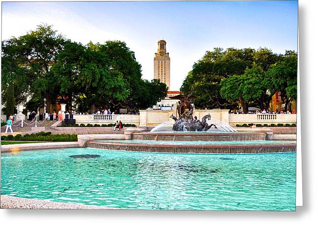 University Of Texas At Austin Greeting Cards - The University of Texas at Austin Greeting Card by Kristina Deane