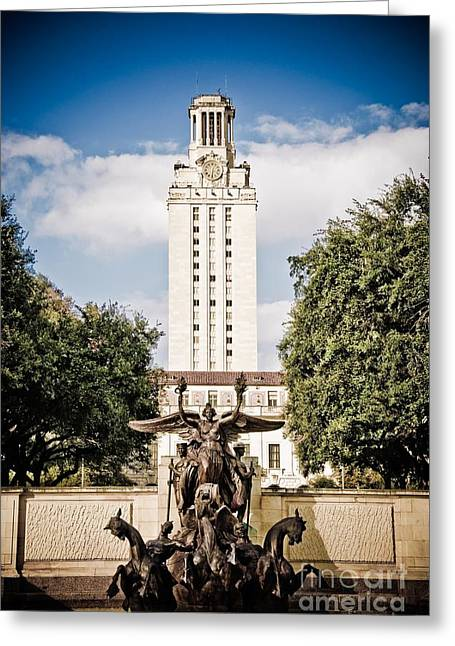 Charles Dobbs Greeting Cards - The University of Texas Tower Greeting Card by Charles Dobbs