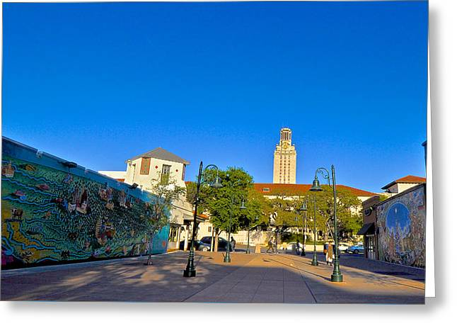 University Of Texas At Austin Greeting Cards - The University of Texas Tower Greeting Card by Kristina Deane