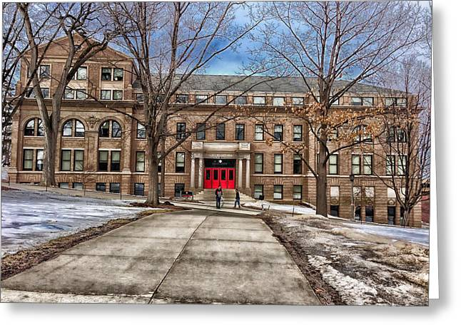 University Of Wisconsin Greeting Cards - The University of Wisconsin Education Building Greeting Card by Mountain Dreams