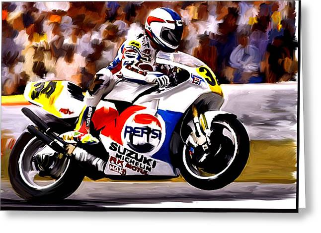 Smart Phone Greeting Cards - The Unleashing   Kevin Schwantz Greeting Card by Iconic Images Art Gallery David Pucciarelli