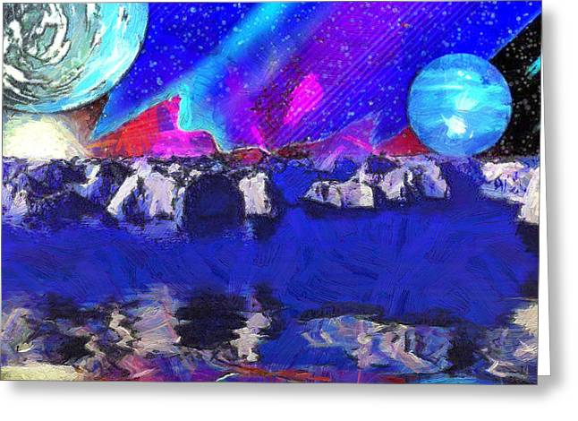 Terragen Digital Art Greeting Cards - The Unreality of All Things Greeting Card by Mario Carini