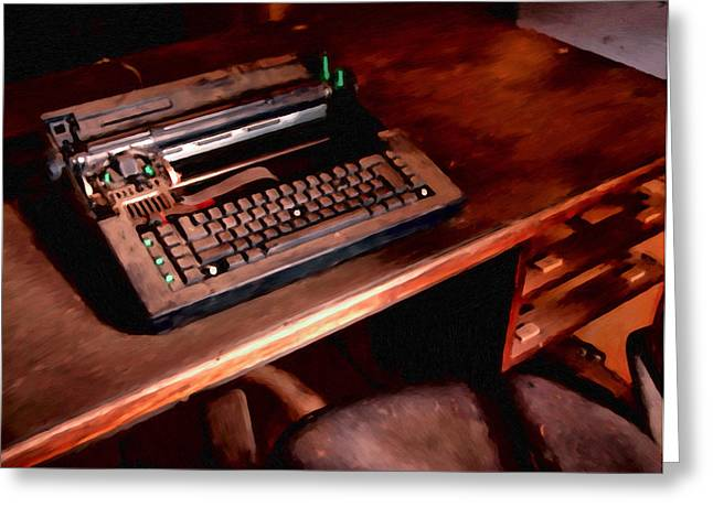 Typewriter Paintings Greeting Cards - The Untold Story Greeting Card by Michael Pickett