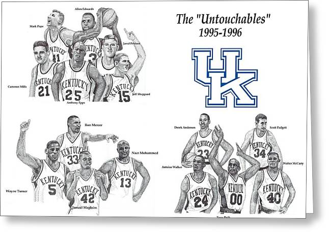 Wildcats Drawings Greeting Cards - The Untouchables Greeting Card by Tanya Crum