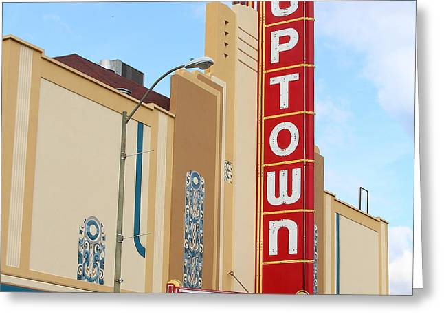 Vineyard Art Greeting Cards - The Uptown Theater in Napa California Wine Country 7D8981 square Greeting Card by Wingsdomain Art and Photography