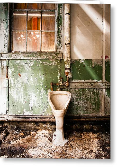 Urinal Greeting Cards - The Urinal Greeting Card by Gary Heller