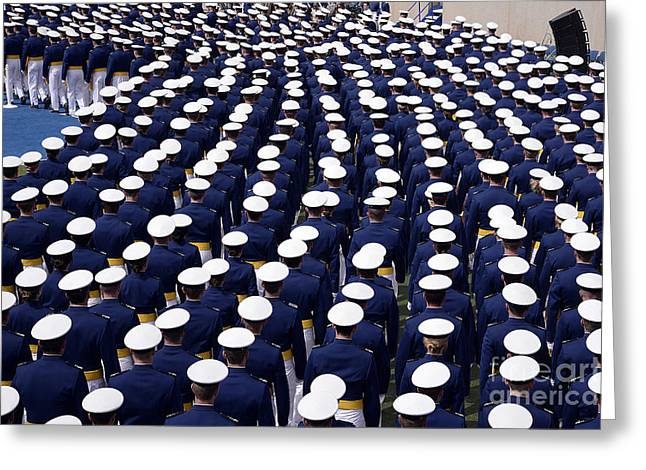 Cadet Greeting Cards - The U.s. Air Force Academy Class Greeting Card by Stocktrek Images