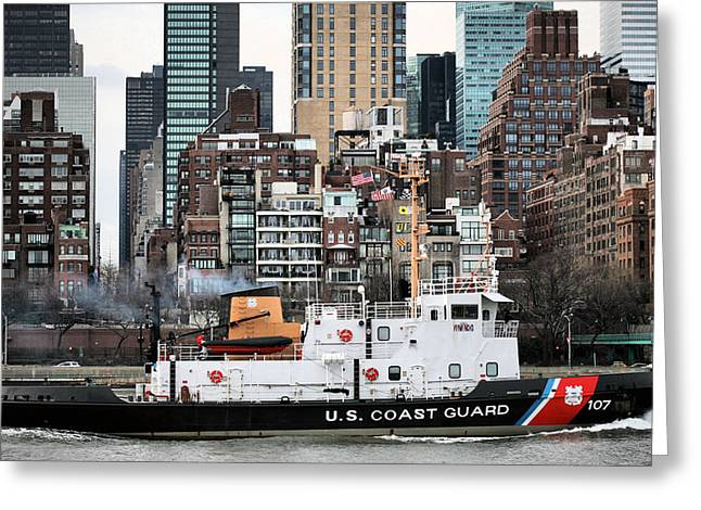 Underway Greeting Cards - The USS Penobscot Bay Greeting Card by JC Findley
