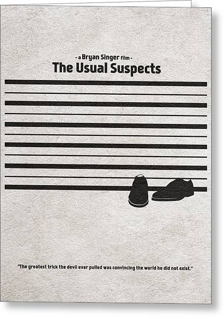 Vintage Movie Poster Greeting Cards - The Usual Suspects Greeting Card by Ayse Deniz