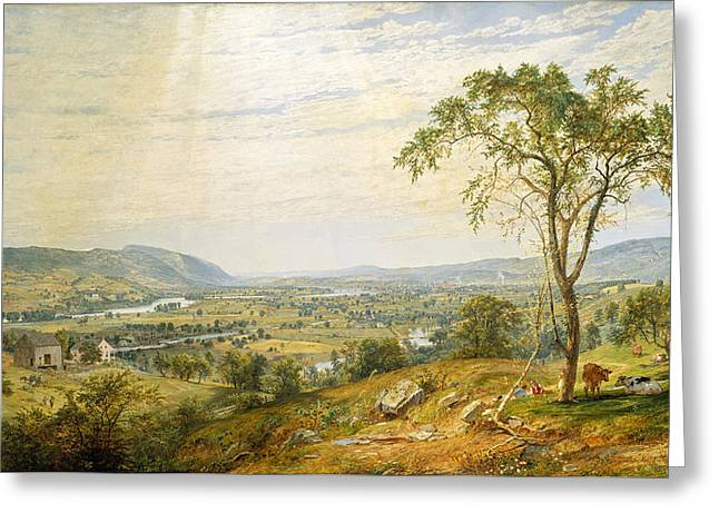 The Valley Of Wyoming Greeting Card by Jasper Francis Cropsey