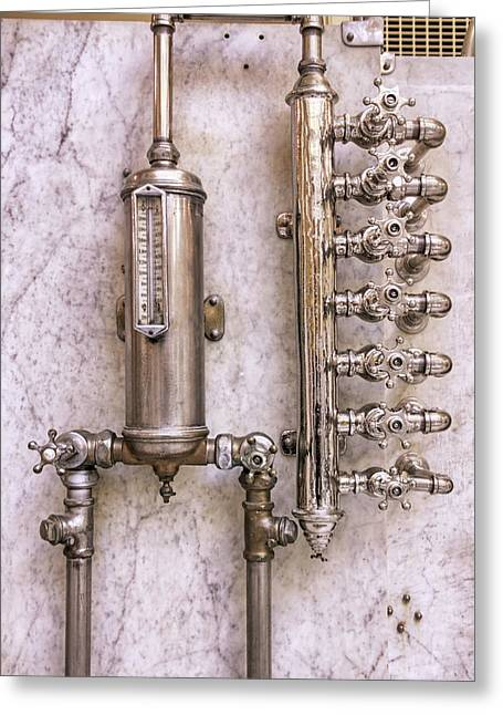 Grate Greeting Cards - The Valves of Fordyce Bathhouse - Hot Springs - Arkansas Greeting Card by Jason Politte