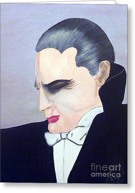 Count Dracula Greeting Cards - The Vampyre Greeting Card by Alys Caviness-Gober