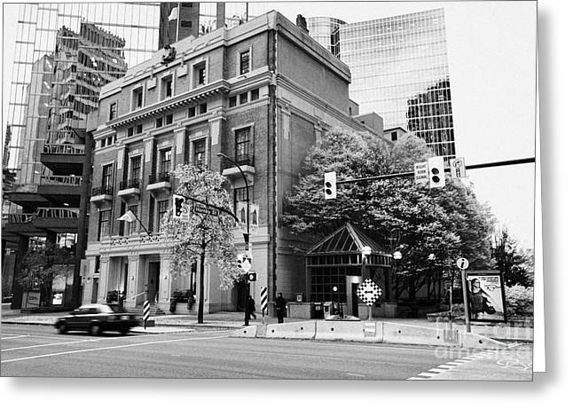 North Vancouver Greeting Cards - the vancouver club building west hastings street heritage district Vancouver BC Canada Greeting Card by Joe Fox
