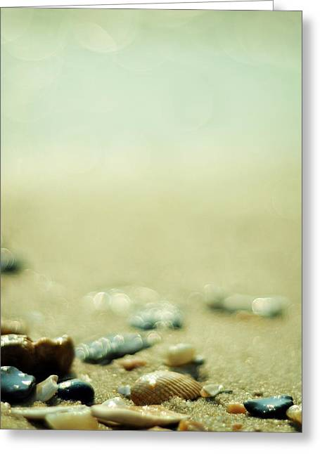 Sparkling Beach Greeting Cards - The Vanishing Greeting Card by Rebecca Sherman