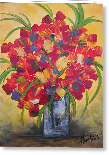 Vase Of Flowers Greeting Cards - The Vase Greeting Card by Molly Roberts