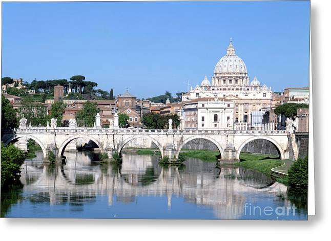 The Vatican Greeting Cards - The Vatican And Tiber River, Rome, Italy Greeting Card by Rafael Macia