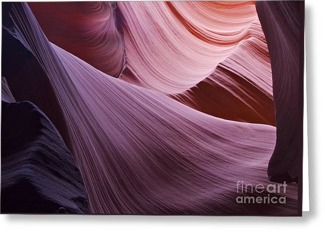 The Veil At Antelope Canyon Greeting Card by Alex Cassels