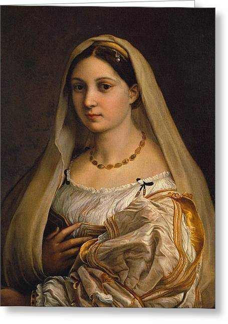 Palatina Greeting Cards - The Veiled Woman Greeting Card by Raffaello Sanzio