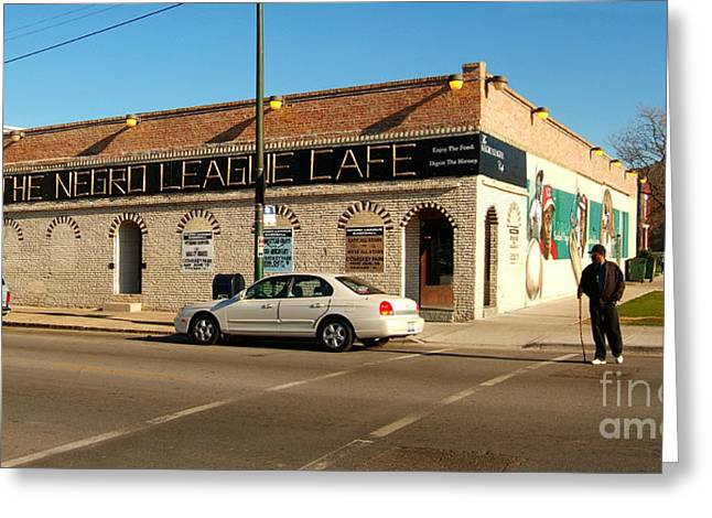Negro Leagues Photographs Greeting Cards - The venerable Negro League Cafe building Greeting Card by Wernher Krutein