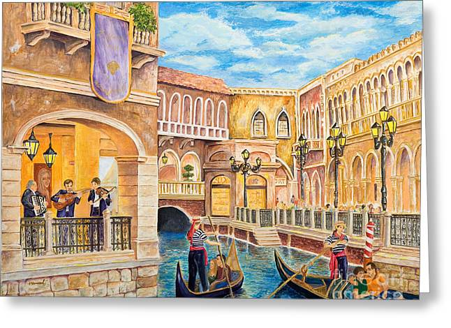 The Venetian Canal  Greeting Card by Vicki  Housel