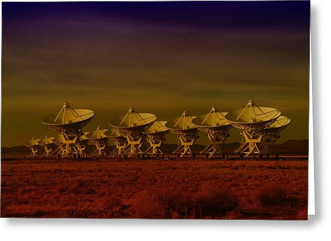 The Very Large Array In New Mexico Greeting Card by Jeff Swan
