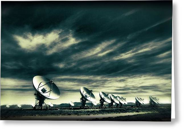 Emissions Greeting Cards - The Very Large Array Observatory Greeting Card by Dan Sproul