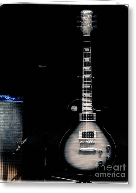 Epiphone Guitars Greeting Cards - The Vibro-King Greeting Card by Steven  Digman