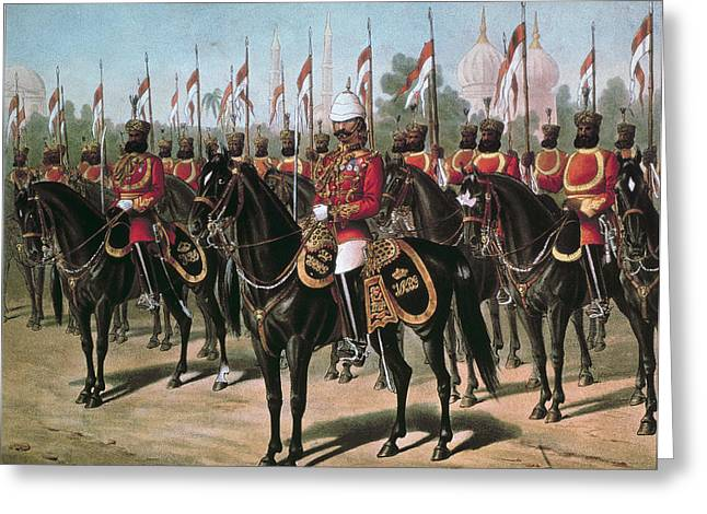 British Empire Greeting Cards - The Viceroys Bodyguard, Printed In Our Greeting Card by Richard Simkin