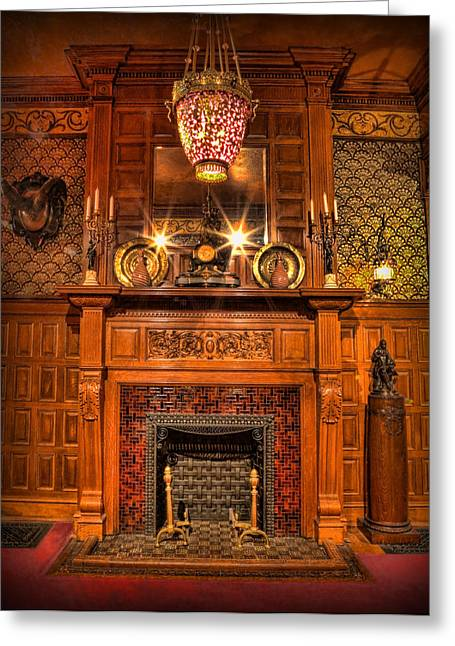 Old Home Place Greeting Cards - The Victorian Fireplace Greeting Card by Lee Dos Santos