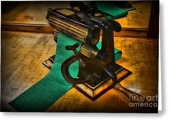 Manual Labor Greeting Cards - The Victorian Seamstress Greeting Card by Paul Ward