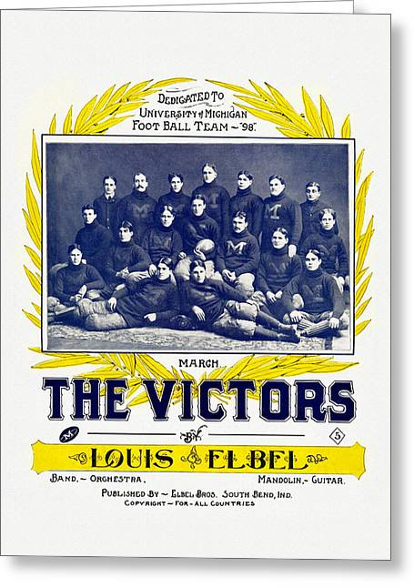 Marching Band Greeting Cards - The Victors University of Michigan Fight Song Greeting Card by Big 88 Artworks
