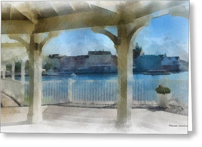 Hospital Theme Greeting Cards - The View From The Boardwalk Gazebo WDW 01 Photo Art Greeting Card by Thomas Woolworth