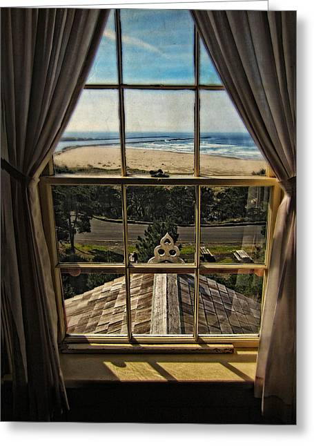 Yaquina Bay Lighthouse Greeting Cards - The View From The Lighthouse Greeting Card by Thom Zehrfeld