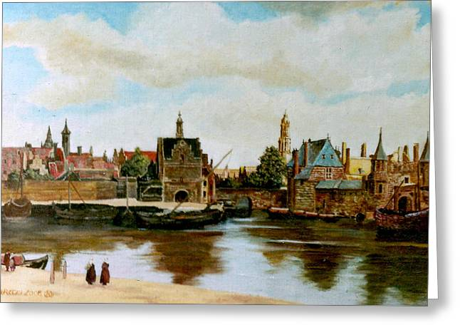 Henryk Greeting Cards - The View of Delft Greeting Card by Henryk Gorecki