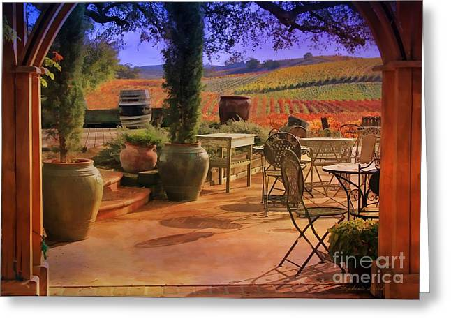 Fall Vineyard Greeting Cards - The View Greeting Card by Stephanie Laird