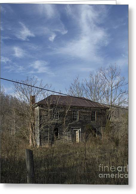 Abandoned Houses Greeting Cards - The View Greeting Card by Teresa Mucha