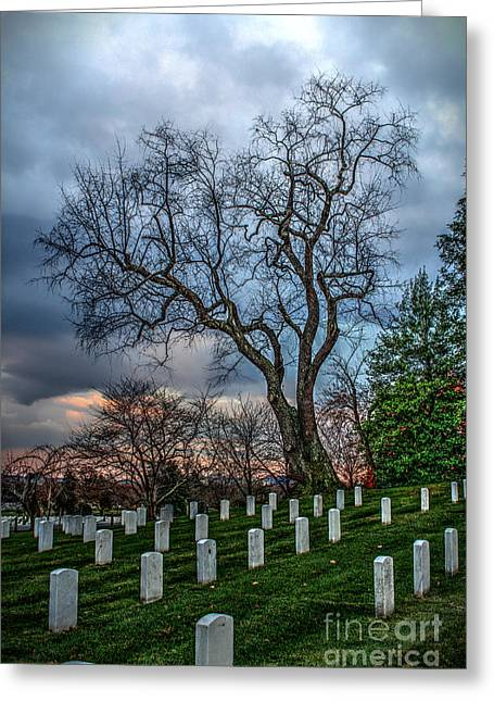 Soldiers National Cemetery Digital Art Greeting Cards - The Vigil Greeting Card by Dan Stone