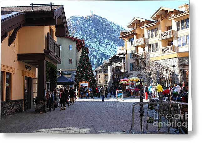Winter Olympics Greeting Cards - The Village at Squaw Valley USA 5D27666 Greeting Card by Wingsdomain Art and Photography
