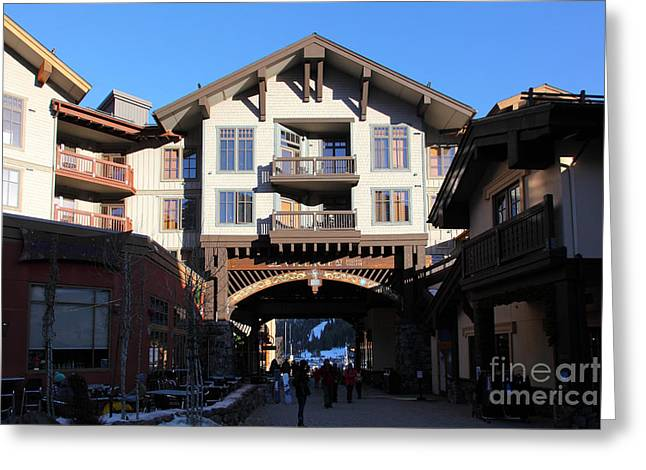 Winter Olympics Greeting Cards - The Village at Squaw Valley USA 5D27698 Greeting Card by Wingsdomain Art and Photography