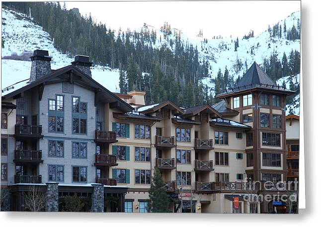 Winter Olympics Greeting Cards - The Village at Squaw Valley USA 5D27713 Greeting Card by Wingsdomain Art and Photography