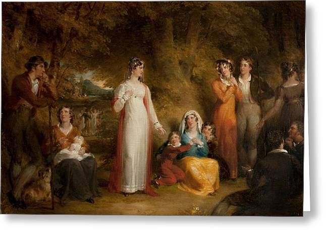 Brides Dress Greeting Cards - The Village Bride Greeting Card by Richard Westall
