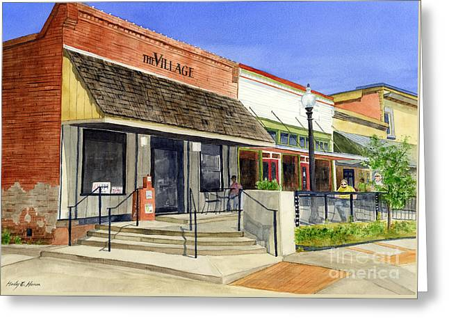 Street View Greeting Cards - The Village Greeting Card by Hailey E Herrera