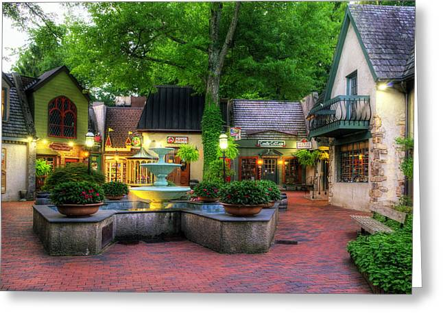 The Village of Gatlinburg Greeting Card by Greg and Chrystal Mimbs