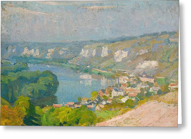 Emanuel Greeting Cards - The Village of Les Andelys Greeting Card by Emanuel Phillips Fox