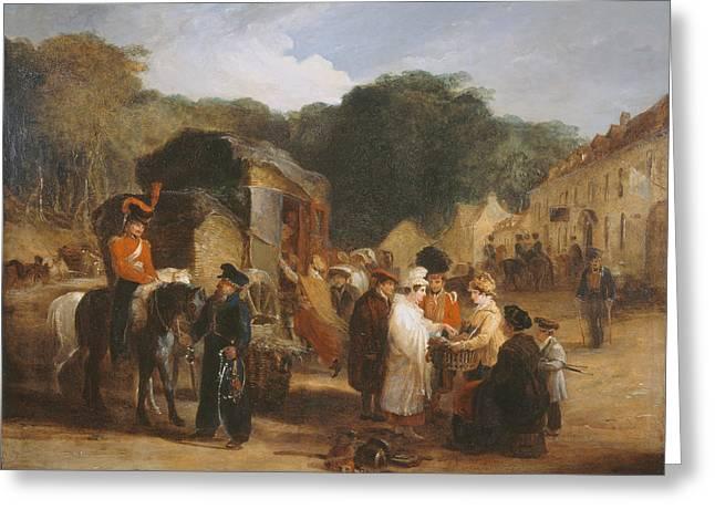 Battle Greeting Cards - The Village Of Waterloo Greeting Card by George Jones